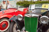 Tisnov, Česká republika - 3. září 2016: tradiční setkání příznivců historických automobilů a motocyklů. Model M.G. Tc, podnikl v roce 1947, čtyři válec. Výrobce: M.G. Car Company Ltd