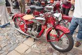 Tisnov, Česká republika - září 3, 2013: tradiční setkání příznivců historických automobilů a motocyklů. Model: Jawa 350 Ohv