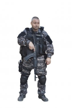 Fight against terrorism, Special Forces soldier, with assault rifle