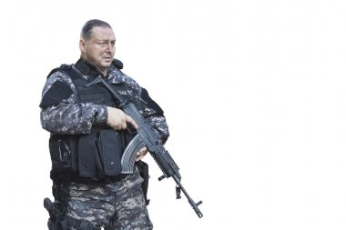 Fight against terrorism, Special Forces soldier, with Czech assault rifle