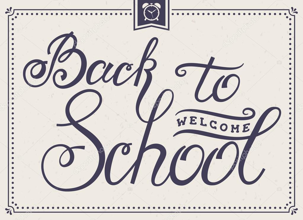 Zurück zur Karte Schriftzug Schule — Stockvektor © Rainledy #120210366