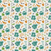 Fotografie Kitchen seamless pattern
