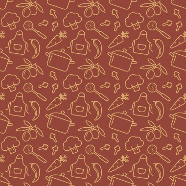 Kitchen seamless pattern.