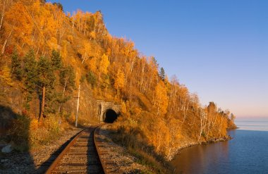 Autumn Circum-Baikal railroad