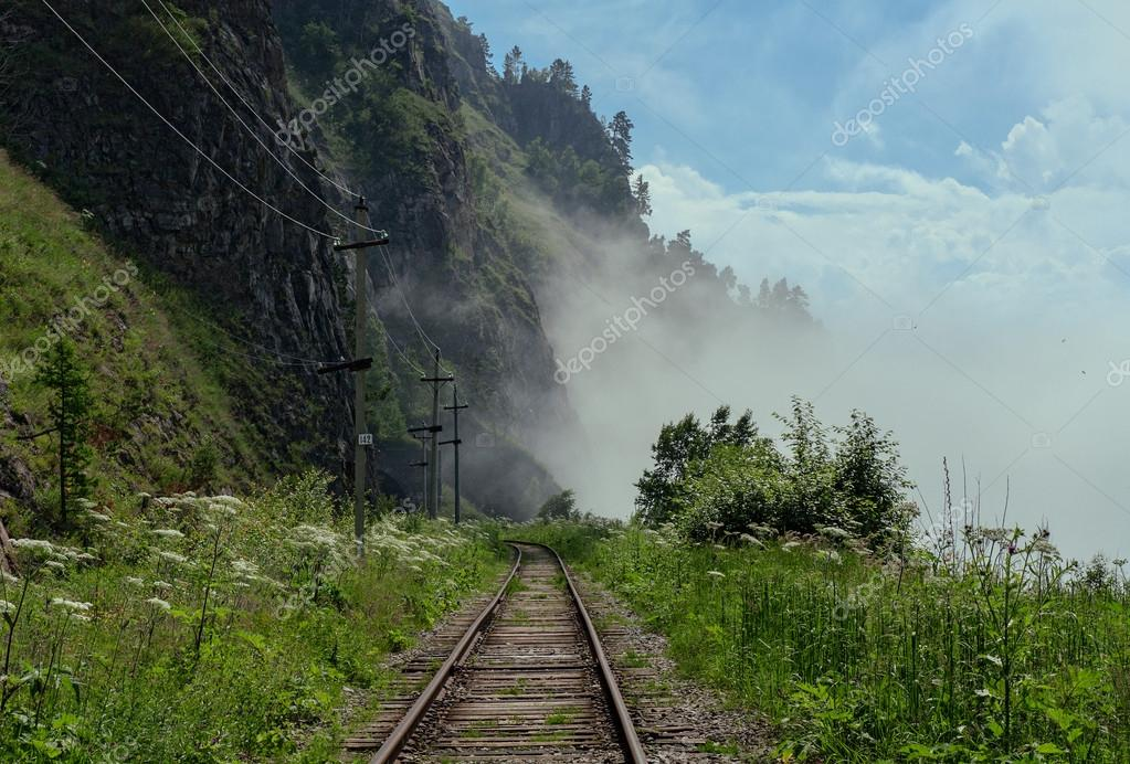 Fog in the Circum-Baikal Railway