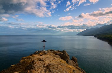 Rood over the lake Baikal