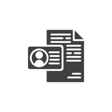 Personal resume vector icon