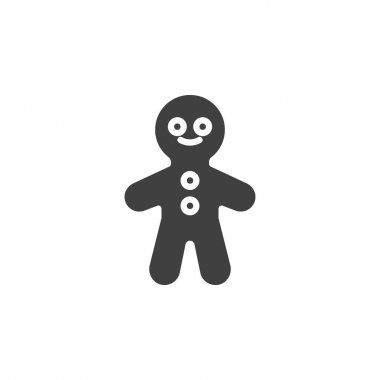 Gingerbread Man vector icon. filled flat sign for mobile concept and web design. Xmas gingerbread cookie glyph icon. Symbol, logo illustration. Vector graphics icon