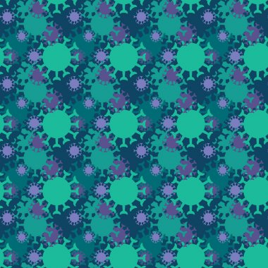 Coronavirus icons pattern. Covid-19 virus seamless background. Seamless pattern vector illustration icon