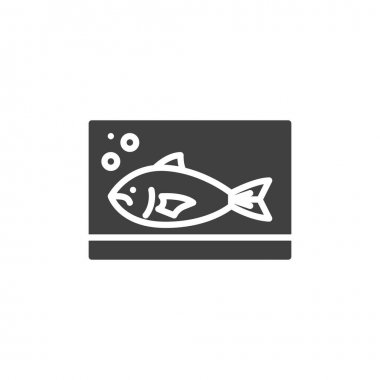 Fresh fish vector icon. filled flat sign for mobile concept and web design. Fish, seafood glyph icon. Symbol, logo illustration. Vector graphics icon