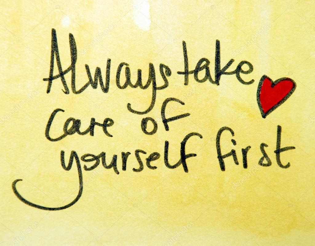 Always take care of yourself first — Stock Photo