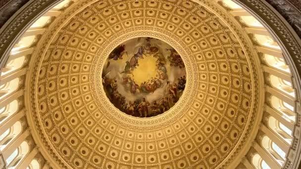Washington. 29. Dezember 2019. Die Apotheose von Washington Fresko in der Rotunde des Kapitols der Vereinigten Staaten.