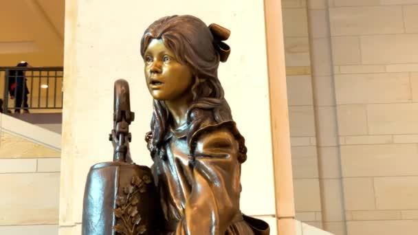 Washington. 29. Dezember 2019. Die Statue von Helen Keller im Kapitol der Vereinigten Staaten, Washington DC, USA