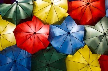 Colorful  umbrellas background