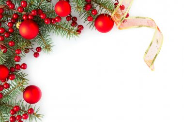 branches of fir tree with decoration