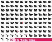 101 vektorových ikon souborů a složek