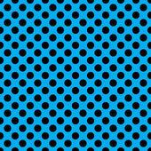 Fotografie Nahtloser Vektor schwarzen Polka Dots Muster auf Neon blau Hintergrund