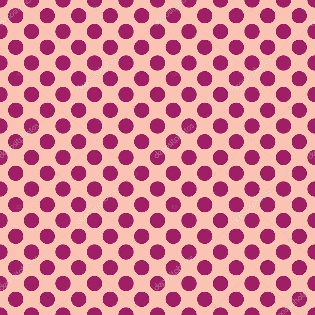 Seamless vector purple polka dots pattern on peach background beautiful seamless vector purple polka dots pattern on peach background scaled at any size use for wallpaper pattern web page background voltagebd Image collections