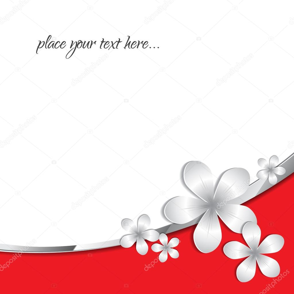 Stock Vector Abstract Paper 3d flower background with text space
