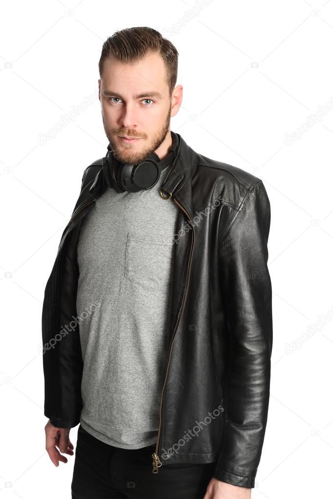 Chaqueta de cuero hombre como usar
