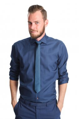 Attractive businessman with beard