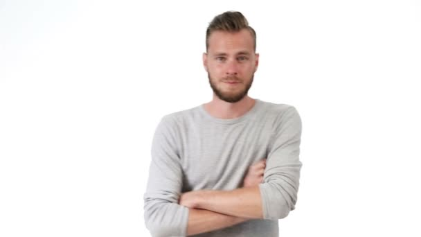 Handsome man in grey shirt