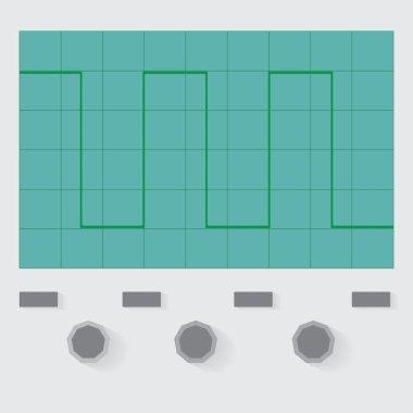 Rectangle wave oscilloscope