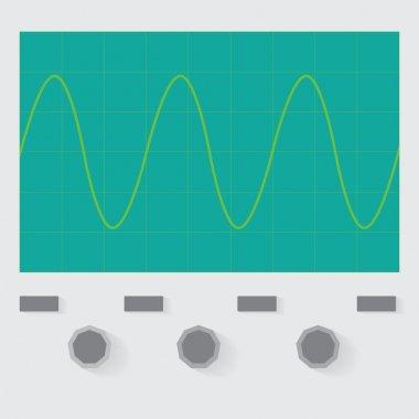 Sine wave oscilloscope