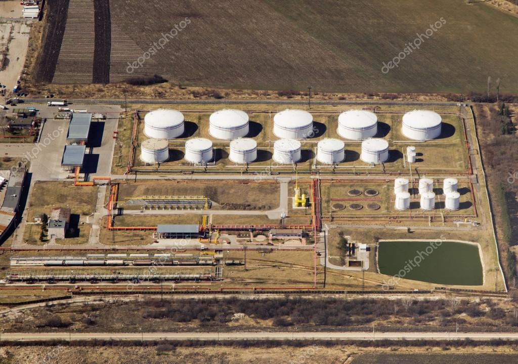 AERIAL VIEW OF PETROL INDUSTRAIL ZONE