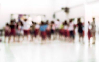 Blurred children in thai dancing class