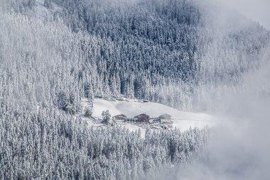 Winter landscape in Brunico