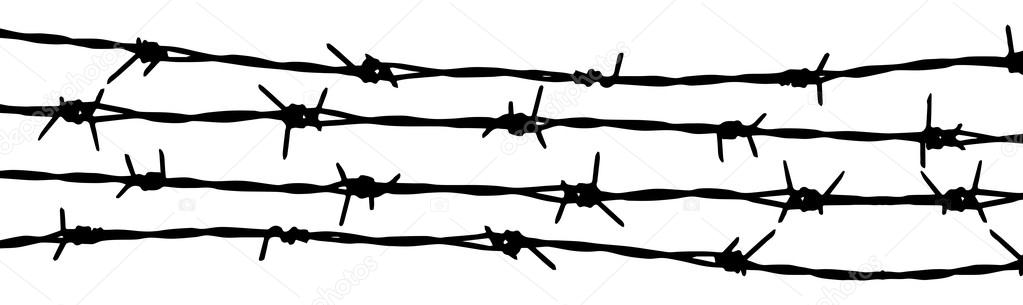 barbed wire seamless background vector fence illustration isolated rh depositphotos com barbed wire vector free barb wire vector art