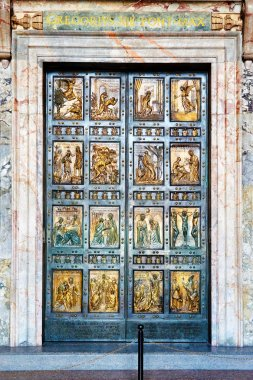 The Holy Door is the northern entrance at St. Peter's Basilica i