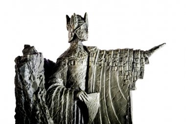 ZAGREB, CROATIA - JANUARY 23: Lord of the Rings figurine showing Elendil the Argonath, king of Gondor, shot in studio in Zagreb, Croatia on January 23, 2013.