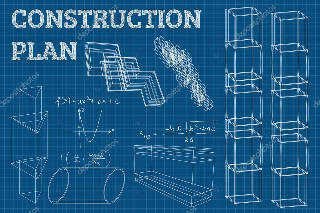 Abstrakte 3D-Render Drahtmodell-Struktur. Vektor-Bau-Grafik-design ...