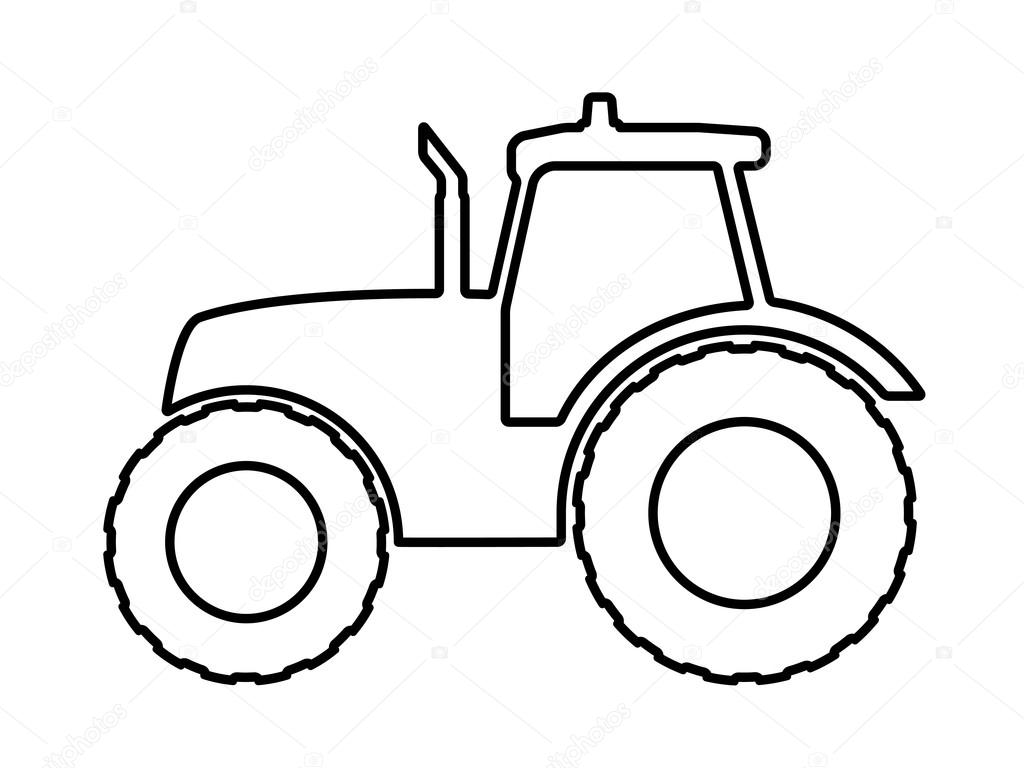 tractor template to print - tractor stencil printable the image kid