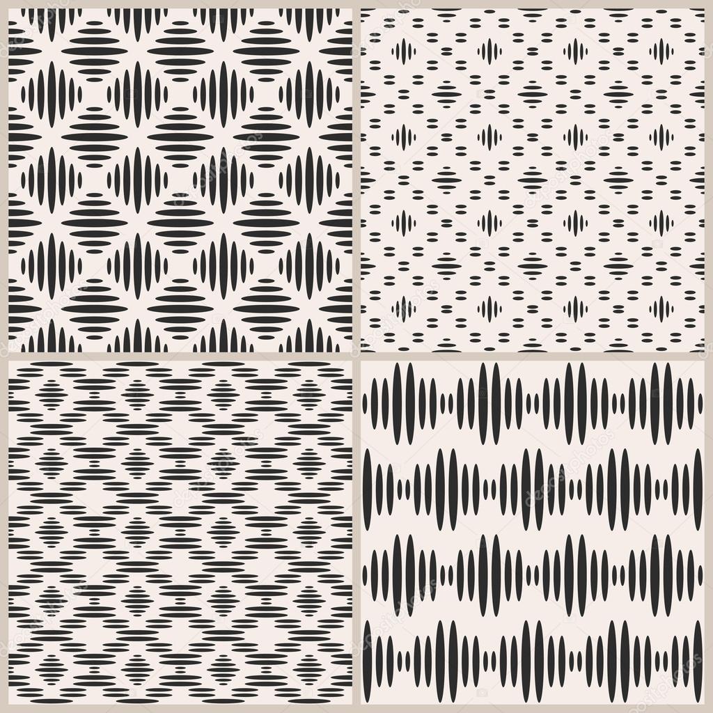 Conjunto de cuatro vectores geométricos sin costura patrones ...