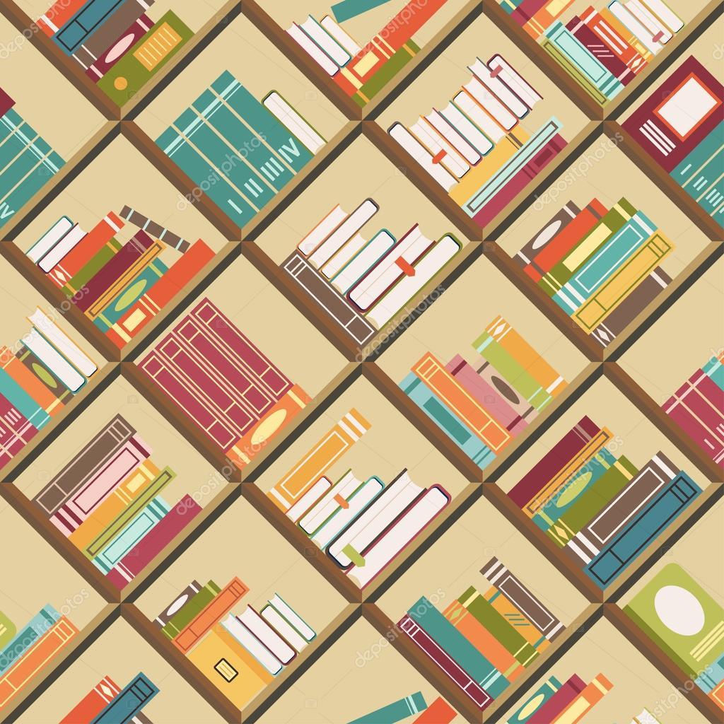 estantera con libros fondo u archivo imgenes vectoriales
