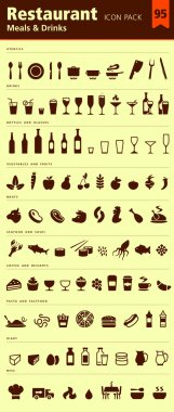 Restaurant icon pack 95 icons meals and drinks