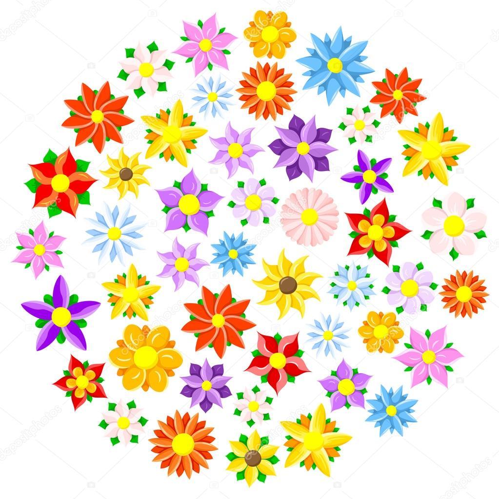 Imagenes Flores Coloridas Animadas Flores Coloridos Dibujos