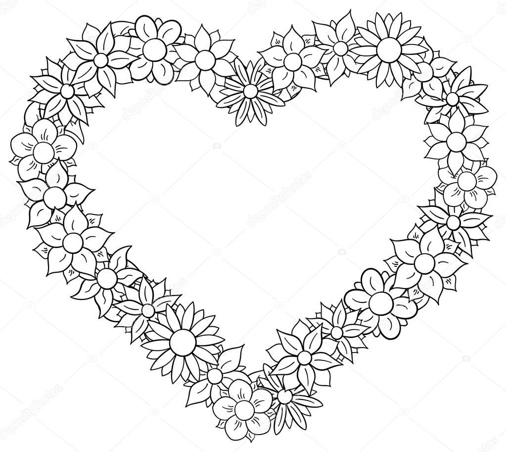 Coeur de fronti re de fleur image vectorielle - Fleur au coeur noir ...