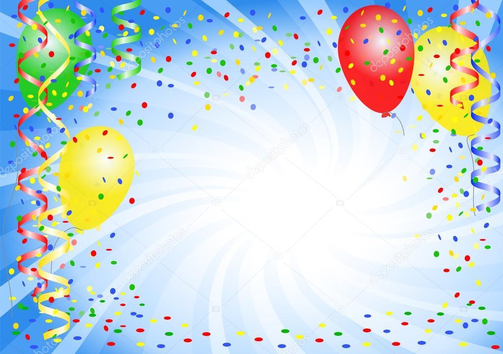 Sfondo festa con palloncini vettoriali stock - Immagine con palloncini ...