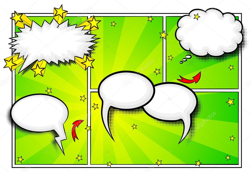 Comic Bilder als Hintergrund — Stockvektor © antimartina #66866617
