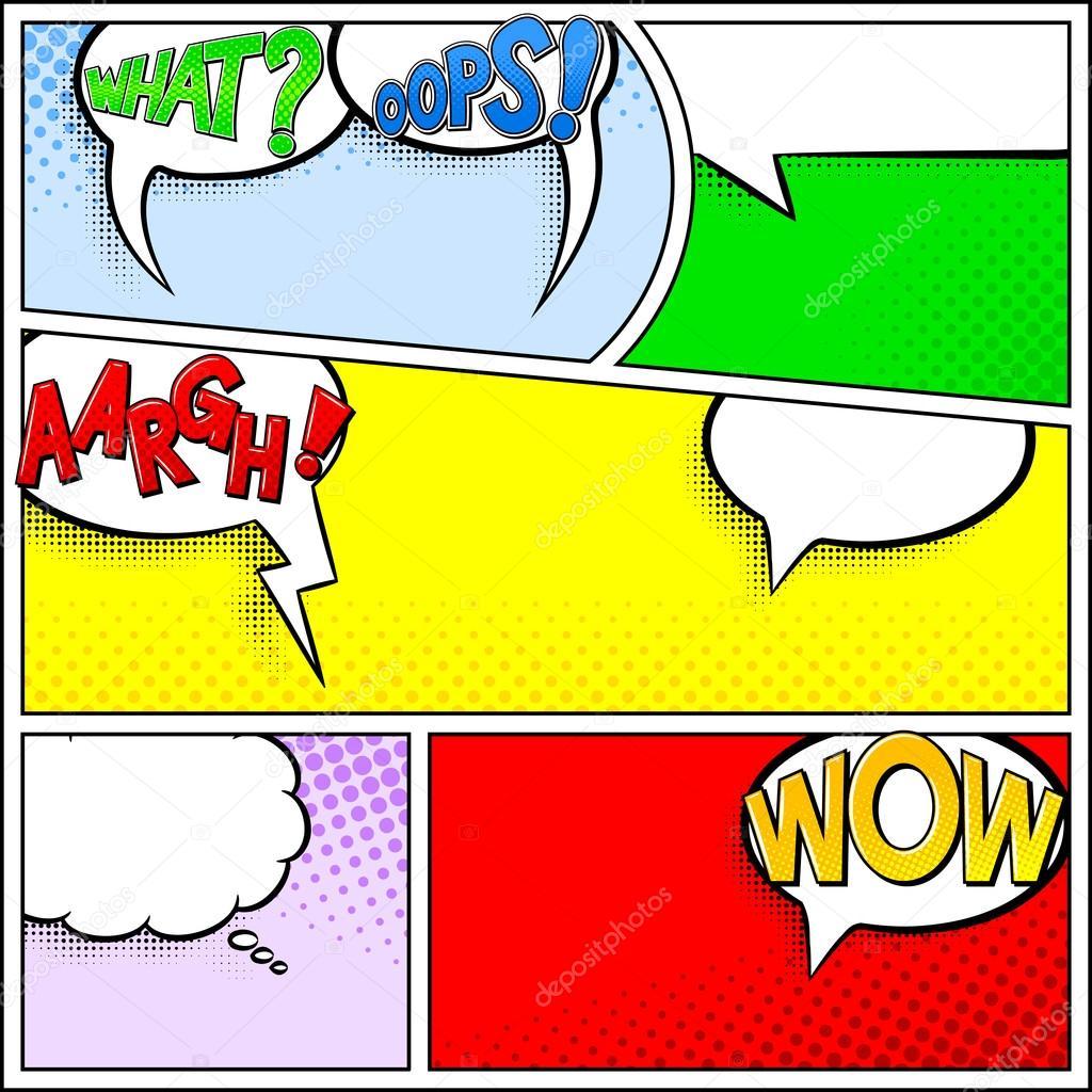 Marcos de cómics como telón de fondo — Vector de stock © antimartina ...