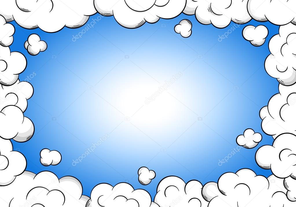 cloud frame with sky as background — Stock Vector © antimartina ...