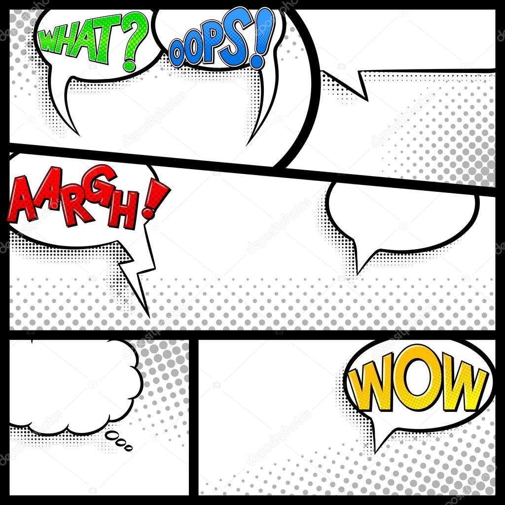 Comic Bilder als Hintergrund — Stockvektor © antimartina #70905615