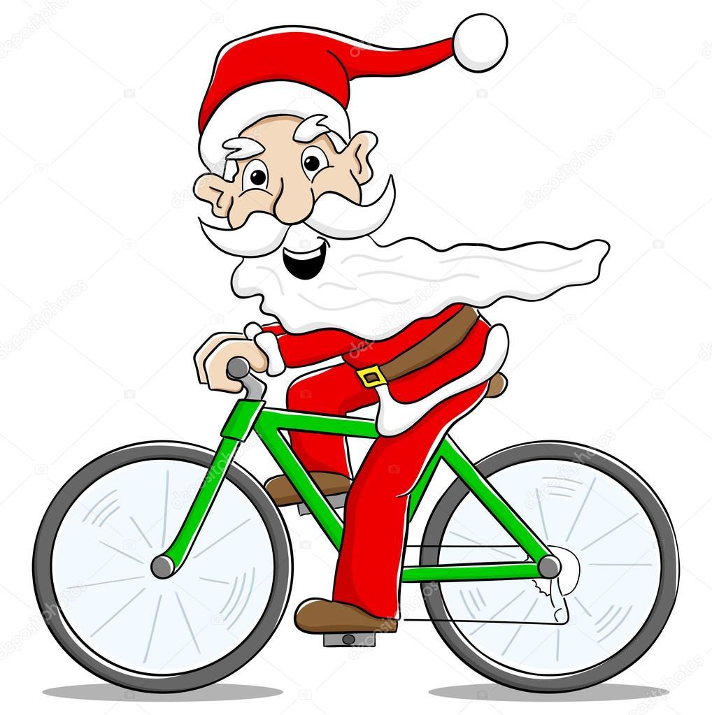 Babbo Natale In Bicicletta.Babbo Natale Sulla Bicicletta Di Consegnare I Regali Di Natale