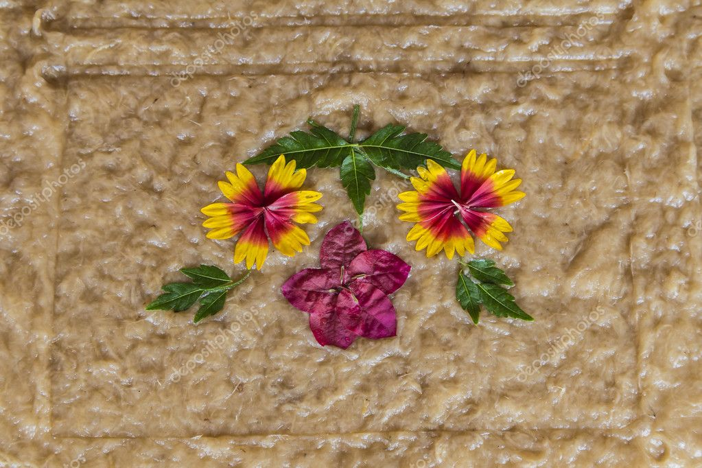Flower handcraft artisan decoration detail
