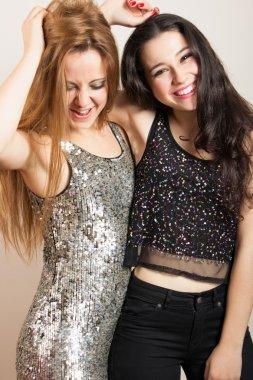 Party girls having fun