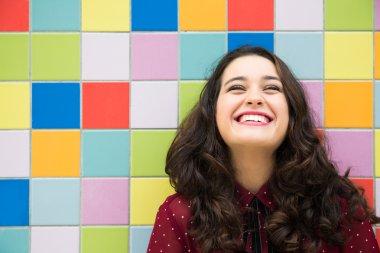 Joyful and optimistic girl